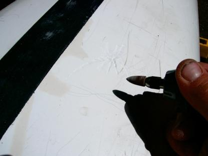 Prepping Spiderweb Cracks